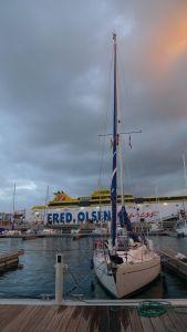 Sinus på La Palma hvor Fred Olsen også sejler med sine 'små' både der går op til 30 knob