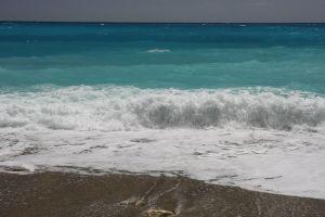 Bølger ved San Rafael - det ser aldrig så vildt ud på billeder, men farverne....