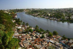 et slumområde i Santo Domingo
