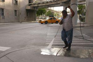 Søndags-rengøring i Miami