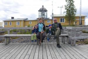 Besætningen på toppen af Bjuröklubb