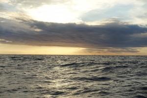 Det er altid skønt at komme i havn sent på aftenen. Lyset og himmelen har ofte noget nyt at byde på.